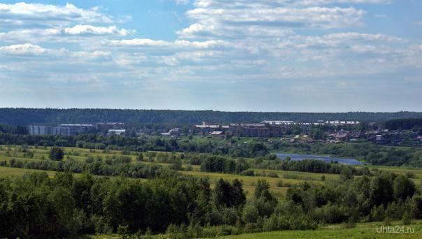 Шудаяг. Вид с полей Улицы города Ухта