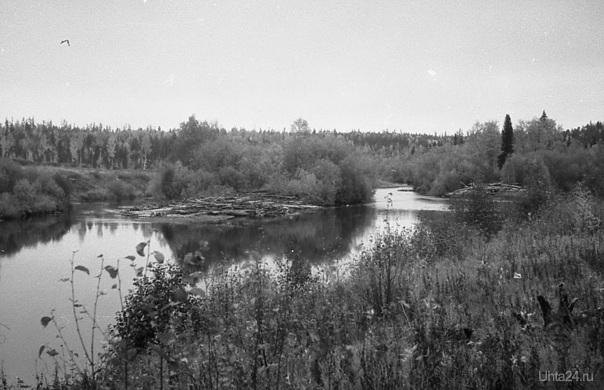 196? г. Река Ухта. Фото Белых В.А. Природа Ухты и Коми Ухта