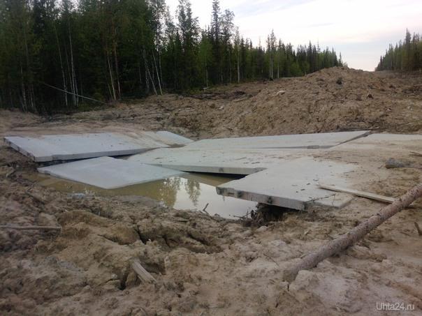 Вот так Газпром бережет нашу природу. Тайга в 10 км от станции Зеленоборск. Пересечение трассой газопровода лесной дороги.   Ухта