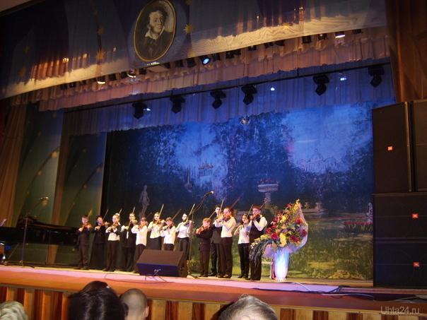 Выступают учащиеся детской музыкальной школы. Вечер памяти Пушкина ГДК 29 января 2009г. Мероприятия Ухта