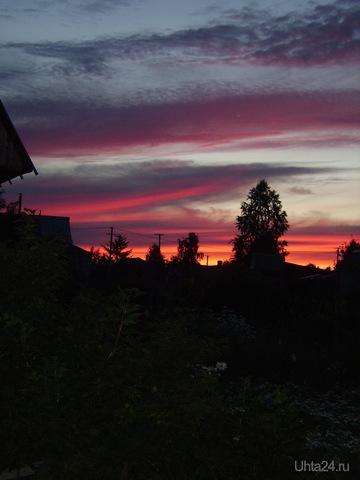 Закат. Природа Ухты и Коми Ухта