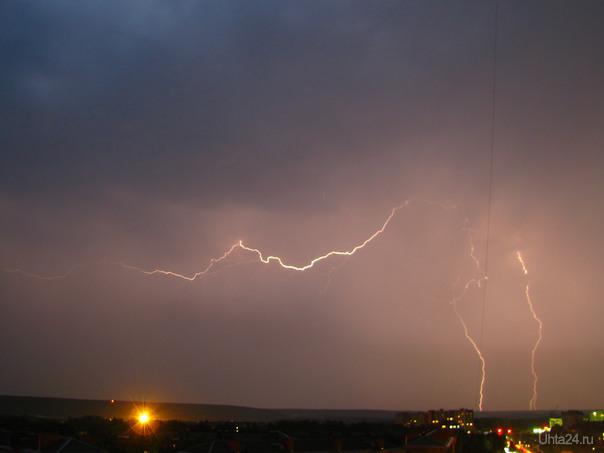 молния, 29 июля 2010 Природа Ухты и Коми Ухта
